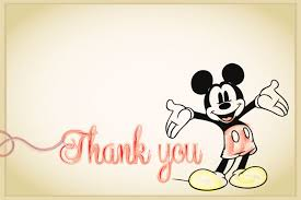 minnie mouse thank you cards classic mickey mouse or minnie mouse birthday thank you cards