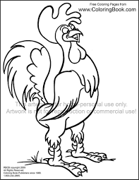 coloring pages free online coloring pages rooster