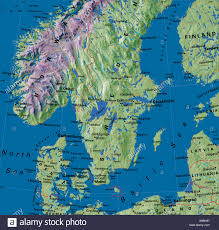 map of europe scandinavia map maps europe denmark sweden scandinavia stock photo
