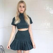 matching set matching set two pleated skirt tennis skirt grid back