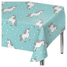 unicorn blue disposable table cover spritz target