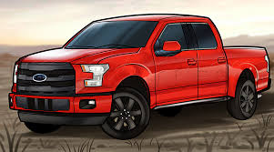 how to draw an f 150 ford pickup truck step by step trucks