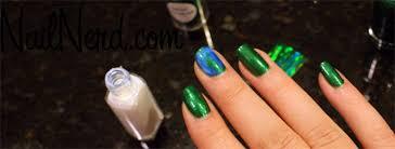 tutorial nail art foil nail nerd nail art for nerds how to do foil transfer nails