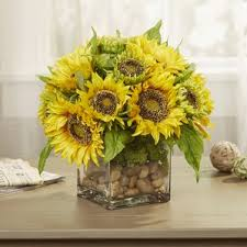 sunflower artificial flowers you u0027ll love wayfair
