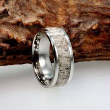 deer antler wedding band antler ring ideas collections