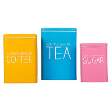 kitchen tea coffee sugar canisters tea coffee u0026 sugar nesting tins from happy jackson canisters