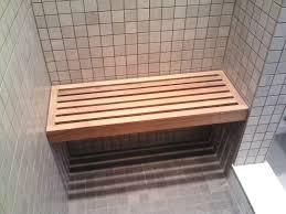 Fold Down Shower Bench 17 Wide Teak Wall Mount Fold Down Shower Seat Teakworks4u