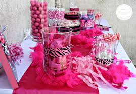 Pink And Black Candy Buffet by Diy Baby Shower Candy Buffet Project Nursery