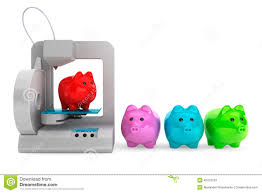 conceptmodern technology concept modern home 3d printer print multicolour pig
