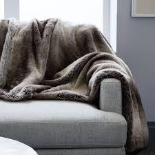 fur throws for sofas faux fur throws west elm