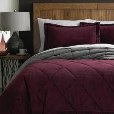 Purple Velvet Comforter Cannon 3 Pc Silky Velvet Comforter