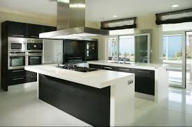 kitchen lovely modern kitchen interior black and white breakfast