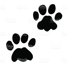 pair paw prints stock vector art 848800570 istock