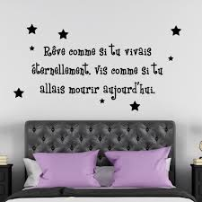 stickers citations chambre sticker citation chambre galerie avec sticker citation raave comme