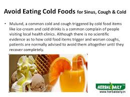 foods to avoid in sinus cough u0026 cold in hindi iस इनस कफ