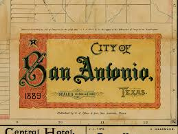 Restoration Hardware Delivery Phone Number by San Antonio Map Texas Map Vintage 1889 Old Map Of San Antonio