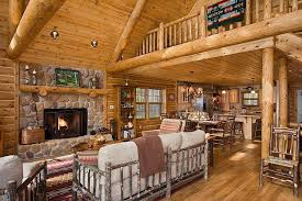 Log Cabin Home Interiors Small Log Cabin Decorating Ideas Project For Awesome Pic On Log