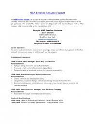 Sample Resume For Mba Finance Freshers by Resume Sample For Fresher Job Templates