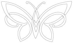 free celtic butterfly simple celtic butterfly design tattoosk