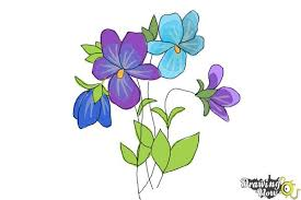 Vase Of Flowers Drawing How To Draw Simple Flowers Drawingnow