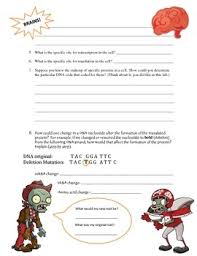 zombie protein synthesis by ashley u0027s interactive biology notebooks
