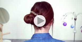 cuisiner chignon tuto coiffure un chignon facile et joli en quelques secondes