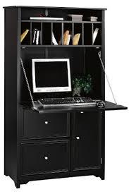 amazon com oxford tall secretary desk 1 door 2 drawer black