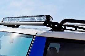 roof rack emergency light bar fj cruiser light bars from pure fj cruiser
