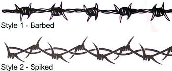 barbed wire designs pictures