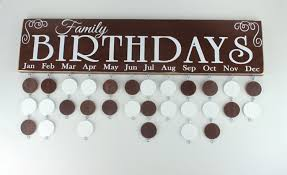 birthday board rustic family birthday board custom wood sign family