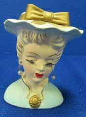 Vintage Lady Head Vases Lotnut
