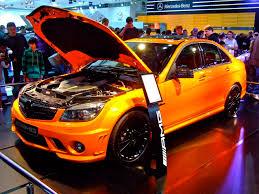 orange mercedes unique metallic orange c63 amg at sydney motor show 4 madwhips
