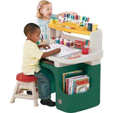 Red Kids Desk by White Yellow Desk With Storage For Painting Utensils Plus Green