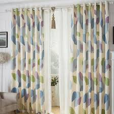 modern style leaf patterned ready made country curtains