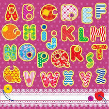 patchwork abc alphabet letters are made of different ornamental
