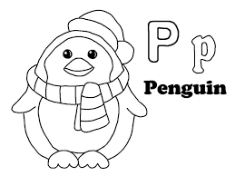 Penguin Coloring Pages Penguin For Letter P Coloring Page Coloring Sun by Penguin Coloring Pages