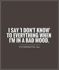 i say i don t to everything when i m in a bad mood