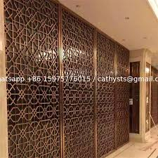 construction building stainless steel dubai room divider screen