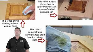 how to stain and seal unfinished cabinets how a home owner can stain unfinished cabinet doors with great results
