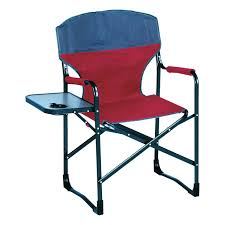 Folding Directors Chair Tall Folding Directors Chair With Side Table Aluminum Earth