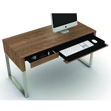 Modern Desk Set Bdi Cascadia Walnut Modern Desk Set Eurway Furniture