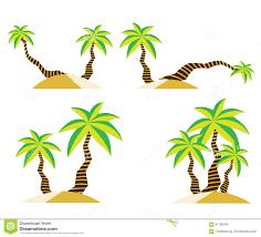 coconut tree on sand summer vector design stock vector