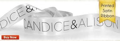 personalized satin ribbon personalized ribbons custom ribbons for favors satin ribbons