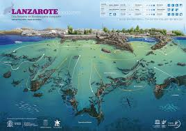 Canary Islands Map The Dive Sites Of Lanzarote Canary Islands Spain