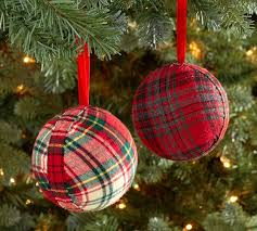 plaid fabric ornament pottery barn