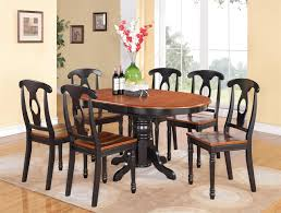 oval dining room table sets pc oval dining room table chairs extension leaf buttermilk finish