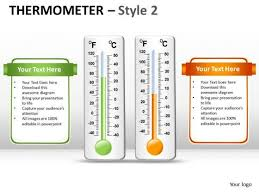 thermometer powerpoint templates slides and graphics