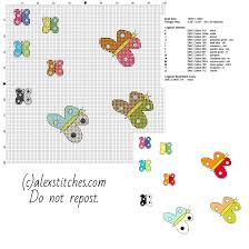 some small butterflies free cross stitch patterns in category
