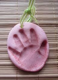 aloha handprint keepsakes salt dough ornaments