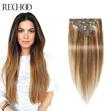 human hair clip in extensions 8 613 mixed color human hair clip in extensions premium